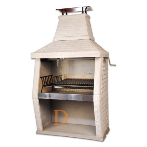 Stone Barbecue PF-3PBSU, 1,40m, White , extra fire place